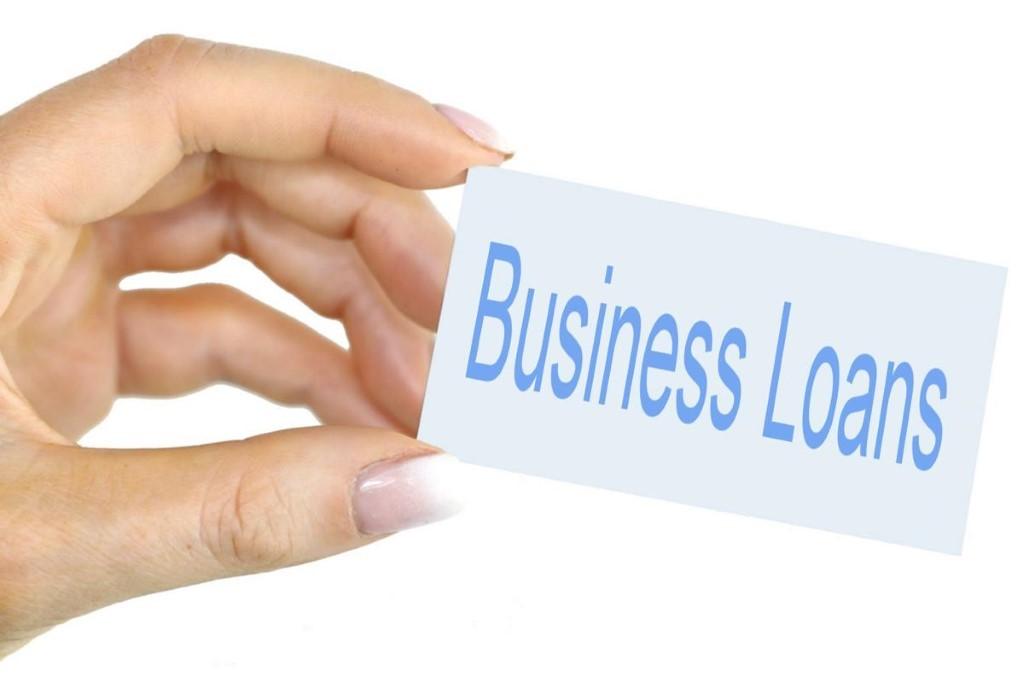 Business Loans - Hand held card image